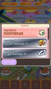 ¡Celebi, Ho-Oh y Lugia llegan a Pokémon Shuffle!
