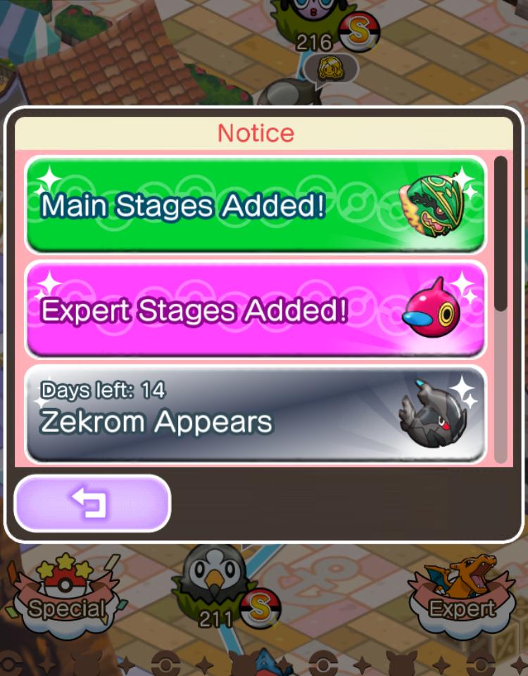 Actualización Pokémon Shuffle: Zekrom + Nuevas fases + Nuevo Safari