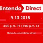 Transmisión del Nintendo Direct 9-13-2018