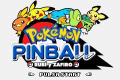 Pokémon Pinball Rubí y Zafiro